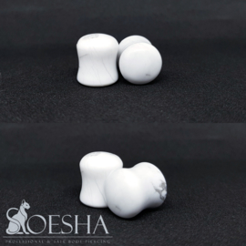 Howlite Double Flare Plugs (pair)