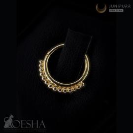 Yellow Gold Beaded Seam Ring