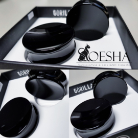 Gorilla Glass Double flared concave plugs