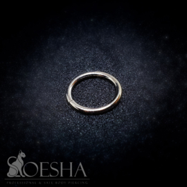 LeRoi 14k white gold seam ring