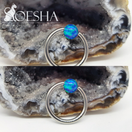 Opal Captive Bead Blue