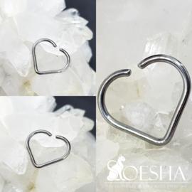 Niobium Daith Heart plain
