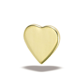 5mm flat genuine gold heart