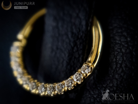 Yellow Gold Zirconia Clicker