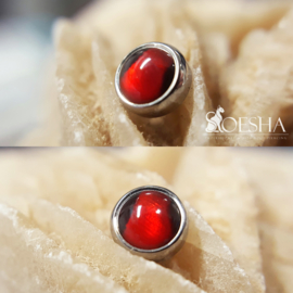 Titanium Threaded End Red Paua Shell