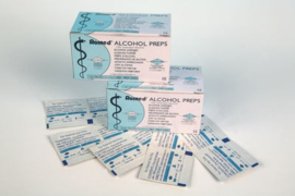 Alcohol wipes for jewellery disinfection