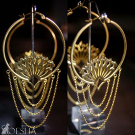 """Blossom"" Hoop Earrings (pair)"