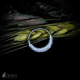 Opulence Clicker Ring White Gold