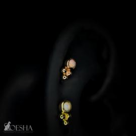 Bezel-Set Tri Bead With Opal