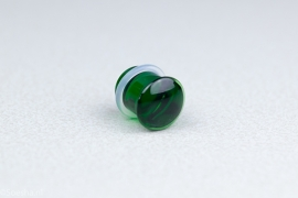 Single Flare Simple Plug in Emerald (paar)