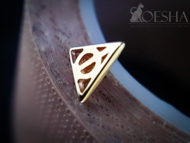 Deathly Hallows Solid Gold Threaded End