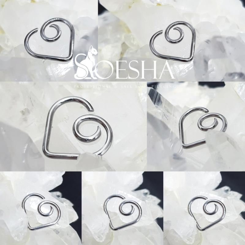 Niobium curl Daith Heart
