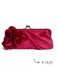 Clutch evening bag flower ~ pink
