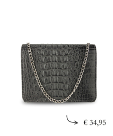 Christmas crossbody bag crocodile print ~ grey
