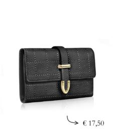 Compact lady wallet multiple slots ~ black