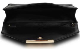 Envelop clutch XL ~ metallic zwart