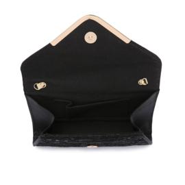 Envelop clutch kant ~ zwart