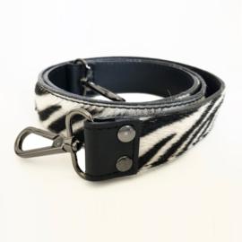 Schouderband, schouderriem tas los - leer - haar, vacht - zebra