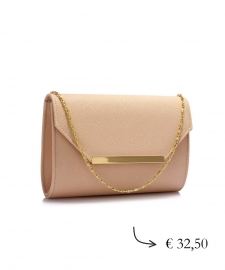 Envelop clutch ~ beige