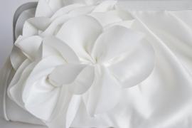Clutch avondtasje bloem ~ wit