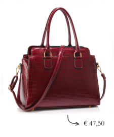 Affordable luxurious lady handbag ~ burgundy