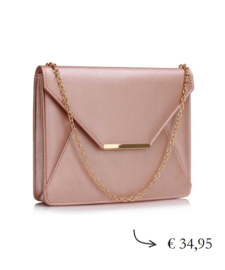 Grote envelop clutch ~ champagne roze