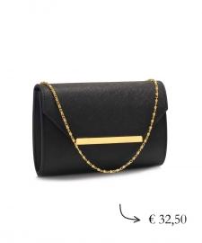 Envelope clutch ~ black