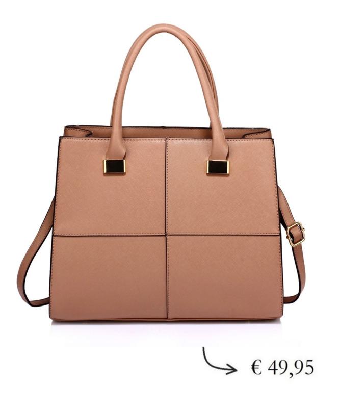 Dames handtas met schouderriem ~ bruin