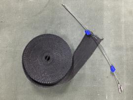 UITLAAT TAPE/WRAP ZWART (10m x 50mm)