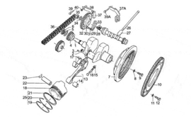 DRIVE SHAFT MOTO GUZZI CALIFORNIA III, CAL 3 1000 cc'87-'93