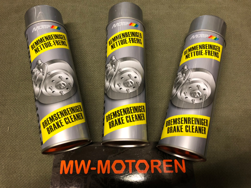 3 BUSSEN REMMENREINIGER  / BRAKE CLEANER MOTIP 500 ml