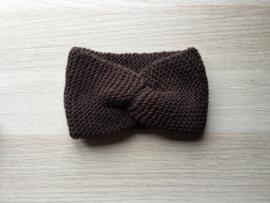 Haarband handgemaakt bruin