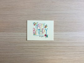 Wenskaartje Birthday