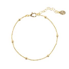 Armband bolletjes goud