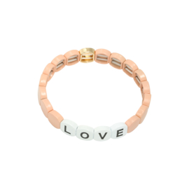 Armband love lichtroos/goud