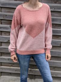 Sweater open rug print