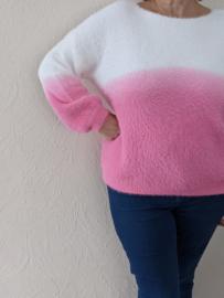 Sweater 2 kleuren roos