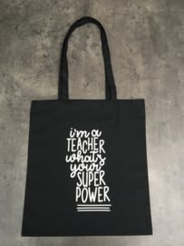 Tas teacher zwart/wit