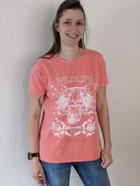 T-shirt tijger koraal