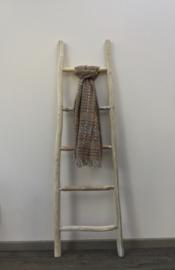 Sjaal kleine ruit Camel/oker/multi