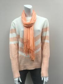 Sjaal effen + flushen licht oranje