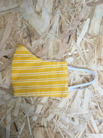 Mondmasker streep geel