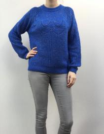 Sweater ajour cobalt