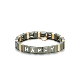 Armband happy kaki