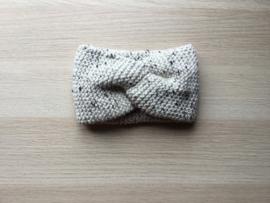 Haarband handgemaakt spikkel grijs