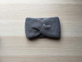Haarband handgemaakt donkergrijs