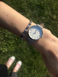 Armband klavertje zilver