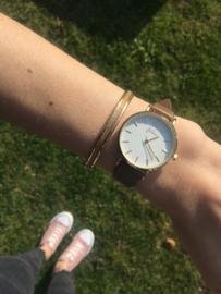 Armband glitter goud
