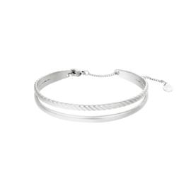 Armband bangle zilver