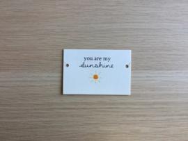 Wenskaartje Sunshine